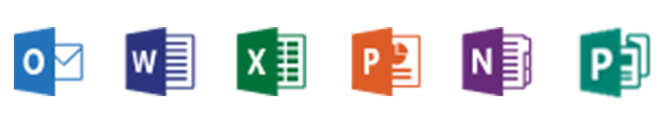 Office 365 Enterprise Applications, Outlook, Word, Excel, PowerPoint, Publisher